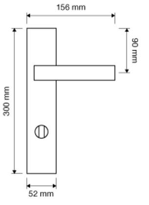 Klamka ALA długi szyld WC LINEA CALI