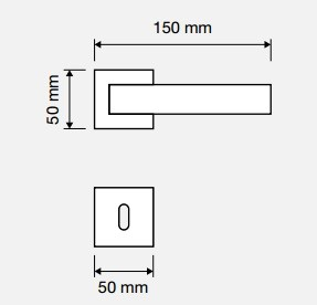 Klamka ZEN Wenge 019 szyld kwadratowy CR chrom polerowany LINEA CALI