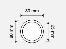 Gałka stała 65mm CRYSTAL LINEA CALI