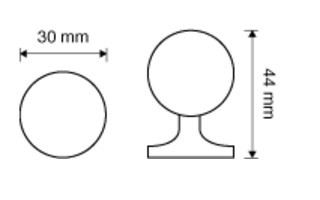 Kryształowa gałka meblowa CRYSTAL 30 mm SWAROVSKI LINEA CALI