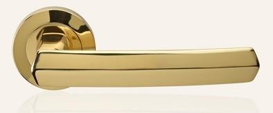 Klamka DAFNE 102 szyld okrągły OL mosiądz błyszczący LINEA CALI