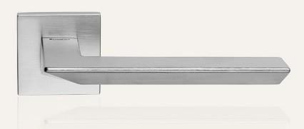 Klamka TRIO ZINCLAR 019 szyld kwadratowy CS chrom matowy LINEA CALI