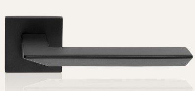 Klamka TRIO ZINCLAR 019 szyld kwadratowy VE czarny matowy LINEA CALI