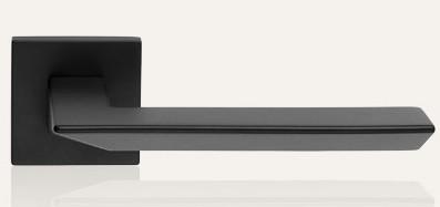 Klamka TRIO ZINCLAR 024 szyld kwadratowy VE czarny matowy LINEA CALI