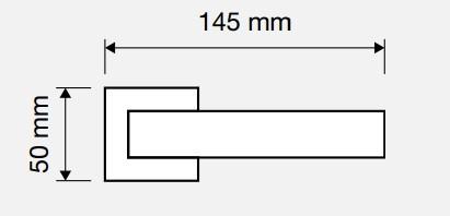 Klamka CORNER ZINCLAR 024 szyld kwadratowy CR chrom polerowany LINEA CALI