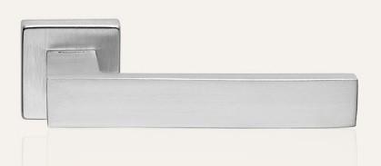 Klamka CORNER ZINCLAR 024 szyld kwadratowy CS chrom matowy LINEA CALI