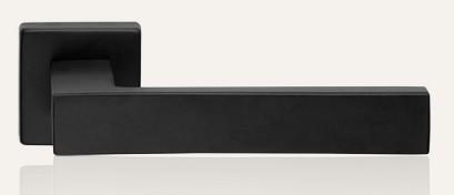 Klamka CORNER ZINCLAR 024 szyld kwadratowy VE czarny matowy LINEA CALI