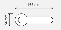 Klamka DAISY 112 BM brązowiony matowy LINEA CALI