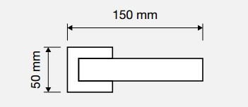 Klamka ELLE 019 CC chrom+chrom matowy LINEA CALI