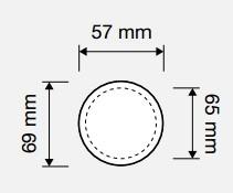 Gałka obrotowa DELFINO na szyldzie 102 LINEA CALI