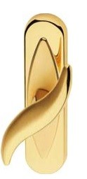 Klamka okienna DELFINO oliwka długi szyld LINEA CALI