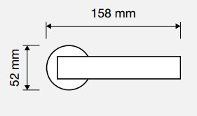 Klamka DUNA 023 szyld okrągły LINEA CALI