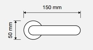 Klamka GEMMA 103 CS chrom matowy LINEA CALI