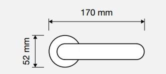 Klamka IBIS 023 CR chrom polerowany LINEA CALI
