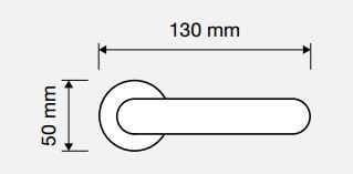 Klamka LIBERA 103 BM brązowiony matowy LINEA CALI