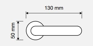 Klamka LIBERA 103 CS chrom matowy LINEA CALI