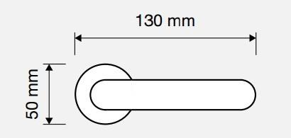 Klamka ONDA 103 OS mosiądz matowy LINEA CALI