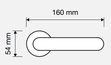 Klamka OPERA 112 szyld okrągły LINEA CALI