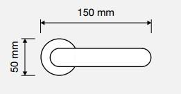 Klamka PIN UP 103 OS mosiądz matowy LINEA CALI