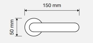 Klamka PROFILO 102 CR chrom polerowany LINEA CALI