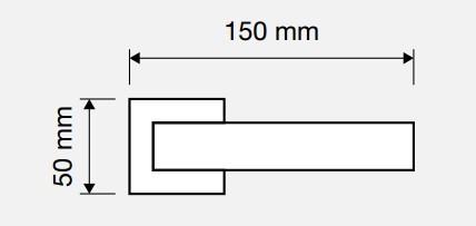 Klamka REFLEX 019 OZ mosiądz pozłacany błyszczący LINEA CALI
