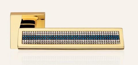Klamka RIFLESSO MESH BLUE 019 OZ pozłacany błyszczący LINEA CALI
