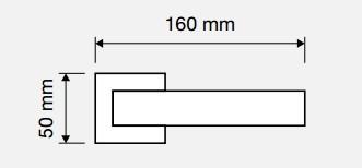 Klamka ROMBO 019 OZ pozłacany błyszczący LINEA CALI