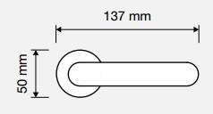 Klamka TESS 102 OT mosiądz błyszczący+matowy LINEA CALI