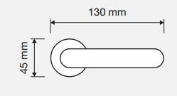 Klamka TOSCA 103 AN antyczny patynowany LINEA CALI
