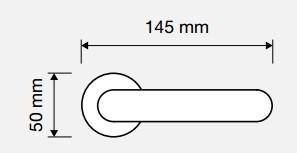 Klamka TRENDY 102 CR chrom polerowany LINEA CALI