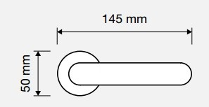Klamka TRENDY 102 CS chrom matowy LINEA CALI