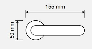 Klamka VOLA 103 CS chrom matowy LINEA CALI
