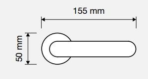 Klamka VOLA 103 NS nikiel matowy LINEA CALI