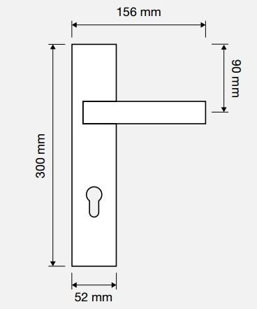 Klamka ELIOS długi szyld LINEA CALI