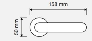 Klamka SPRING ZINCLAR 027 chrom matowy LINEA CALI