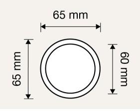 Gałka stała ELIKA 65mm LINEA CALI