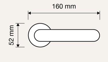 Klamka POINT 023 AS antracyt matowy LINEA CALI